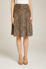 Load image into Gallery viewer, A-Line Skirt Leopard Print