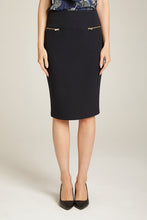 Load image into Gallery viewer, 2 Zip Pencil Skirt Navy Blue