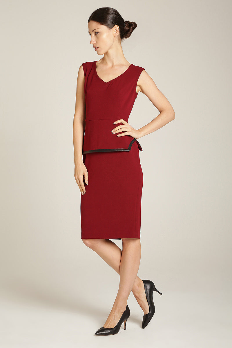 Ivy Dress Burgundy