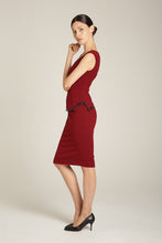Load image into Gallery viewer, Ivy Dress Burgundy