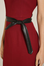 Front Slit Dress Burgundy