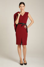 Load image into Gallery viewer, Front Slit Dress Burgundy