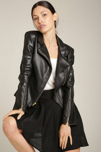Moto Jacket Black Vegan Leather