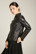 Load image into Gallery viewer, Moto Jacket Black Vegan Leather