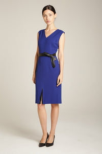 Front Slit Dress Cobalt Blue