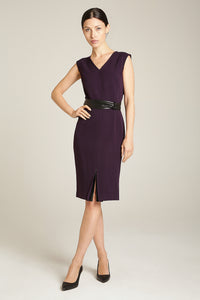 Front Slit Dress Amethyst