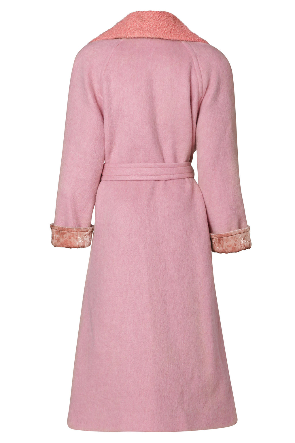 Long Winter Coat Cotton Candy Pink
