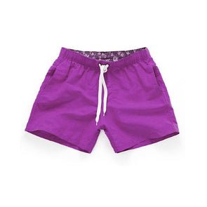 Shorts Náutico Canvas Roxo