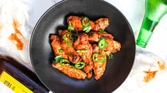 Crispy Baked Wings With Carolina Reaper Hot Sauce