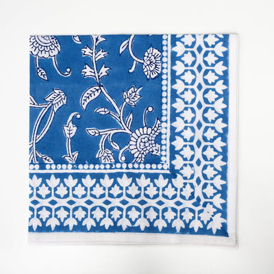 Handmade Blockprint Dinner Napkins - Set of 4 - The Foodocracy