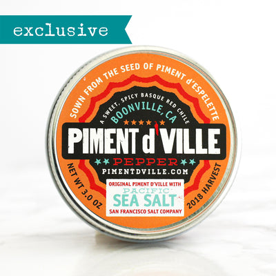 Piment d'Ville Espelette Pepper + Sea Salt Blend - The Foodocracy