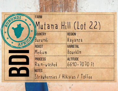Single Origin Coffee - Burundi Africa | Mutana Hill - The Foodocracy