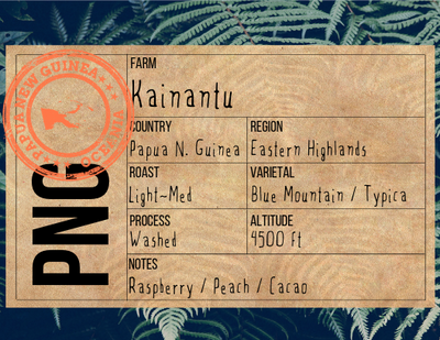 Single Origin Coffee - Papua New Guinea Kainantu (Organic) - The Foodocracy