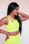 Side Swept Sports Bra *Limited Edition Sunshine in Yellow