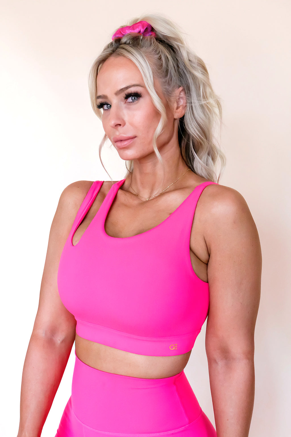 Side Swept Sports Bra *Limited Edition Pretty in Pink