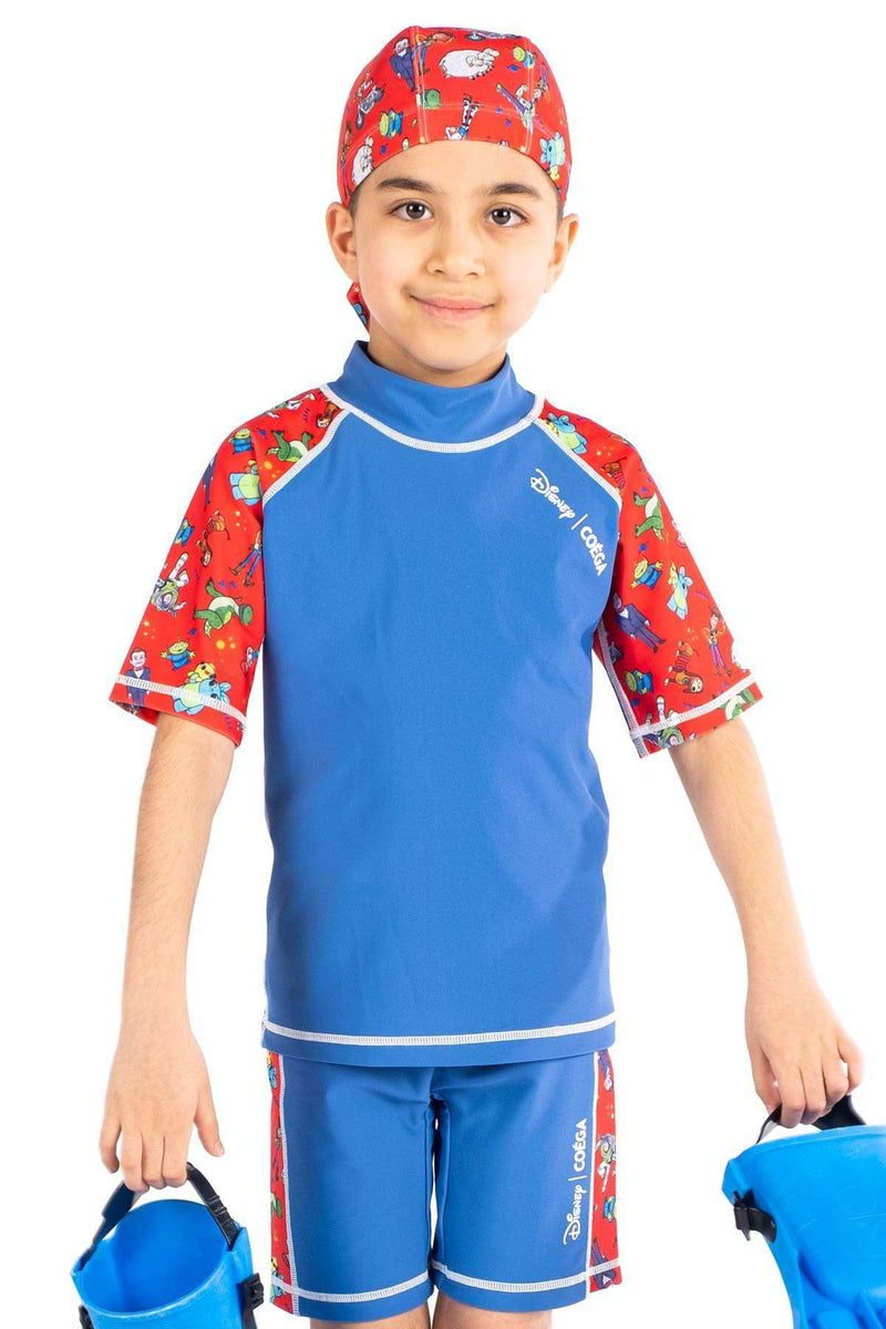 Coega Disney Boys Kids Swim Suit - Two Piece Blue Toy Story / 4 Sun Protective Swimwear