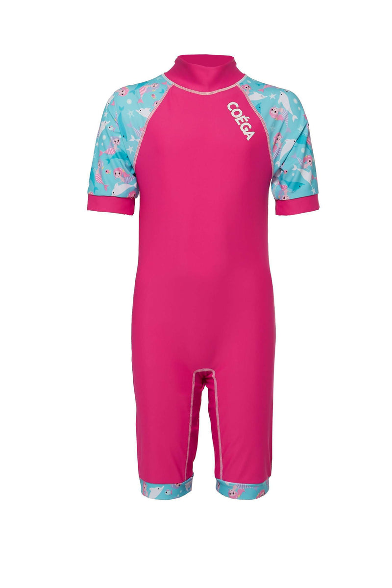 Coega Girls Kids Swim Suit - One Piece Pink Mermaids / 4 Sun Protective Swimwear