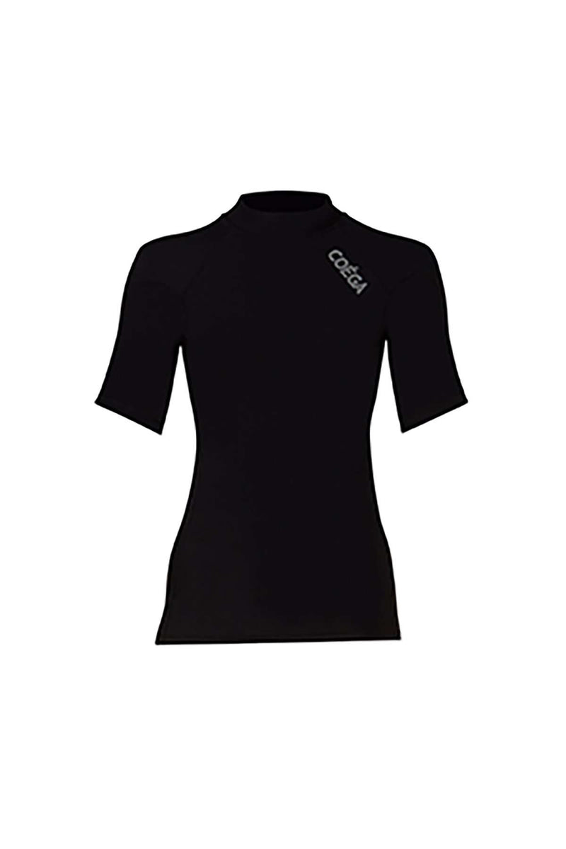 COEGA Ladies Rashguard - Short Sleeve (Size 6; Black Color)