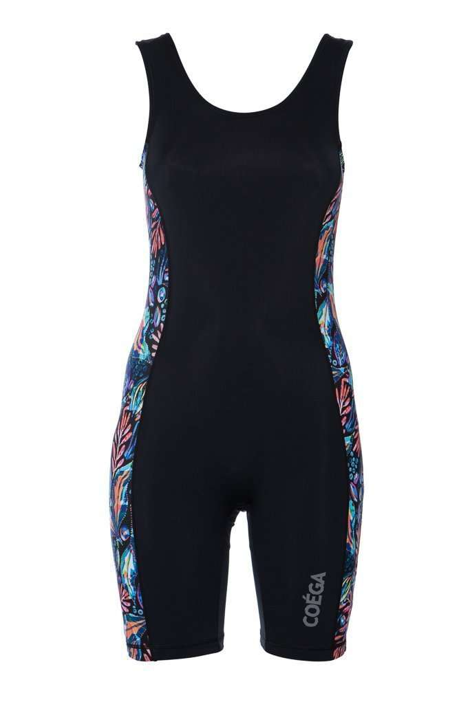 Coega Ladies Swim Shortie Black Sea Foliage / 6 Sun Protective Swimwear