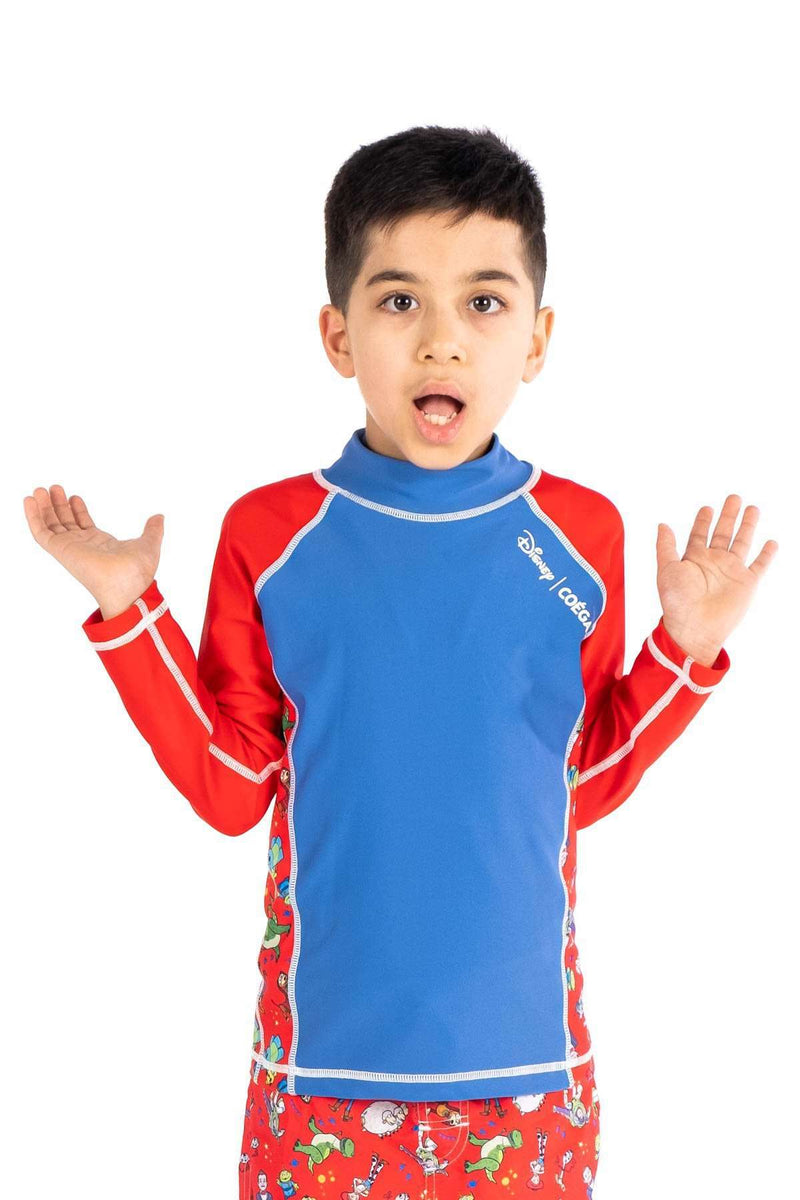 Coega Disney Boys Kids Rashguard - Long Sleeve Blue Toy Story / 4 Sun Protective Swimwear