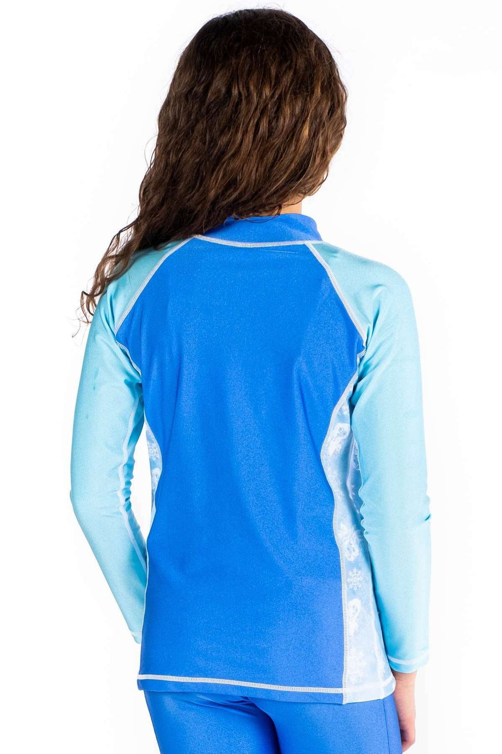 Coega Disney Girls Youth Rashguard - Long Sleeve Sun Protective Swimwear
