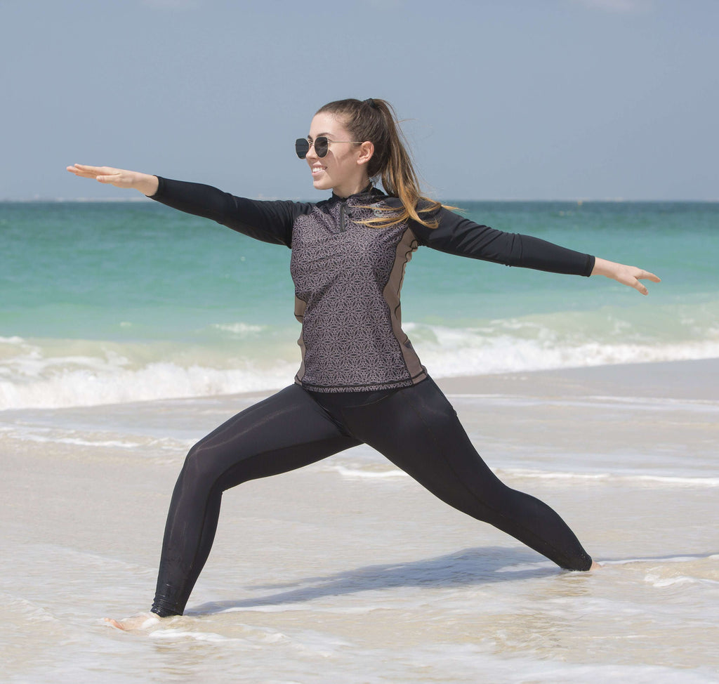 COEGA Ladies Rashguard with Zip - Long Sleeve
