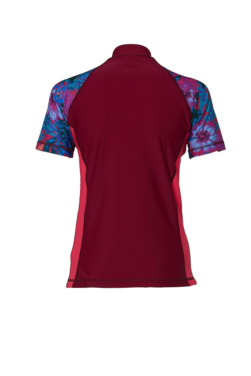 COEGA Ladies Rashguard with Zip - Short Sleeve