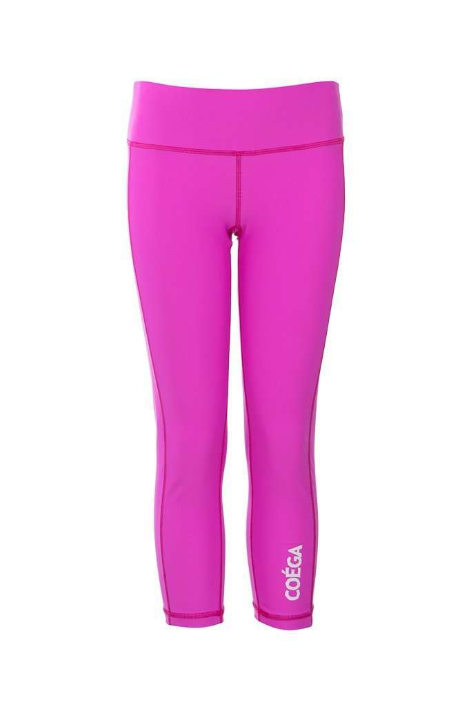 Coega Girls Youth Swim Tights - 3/4 Length Pink Diamond / 10 Kids Sun Protective Swimwear