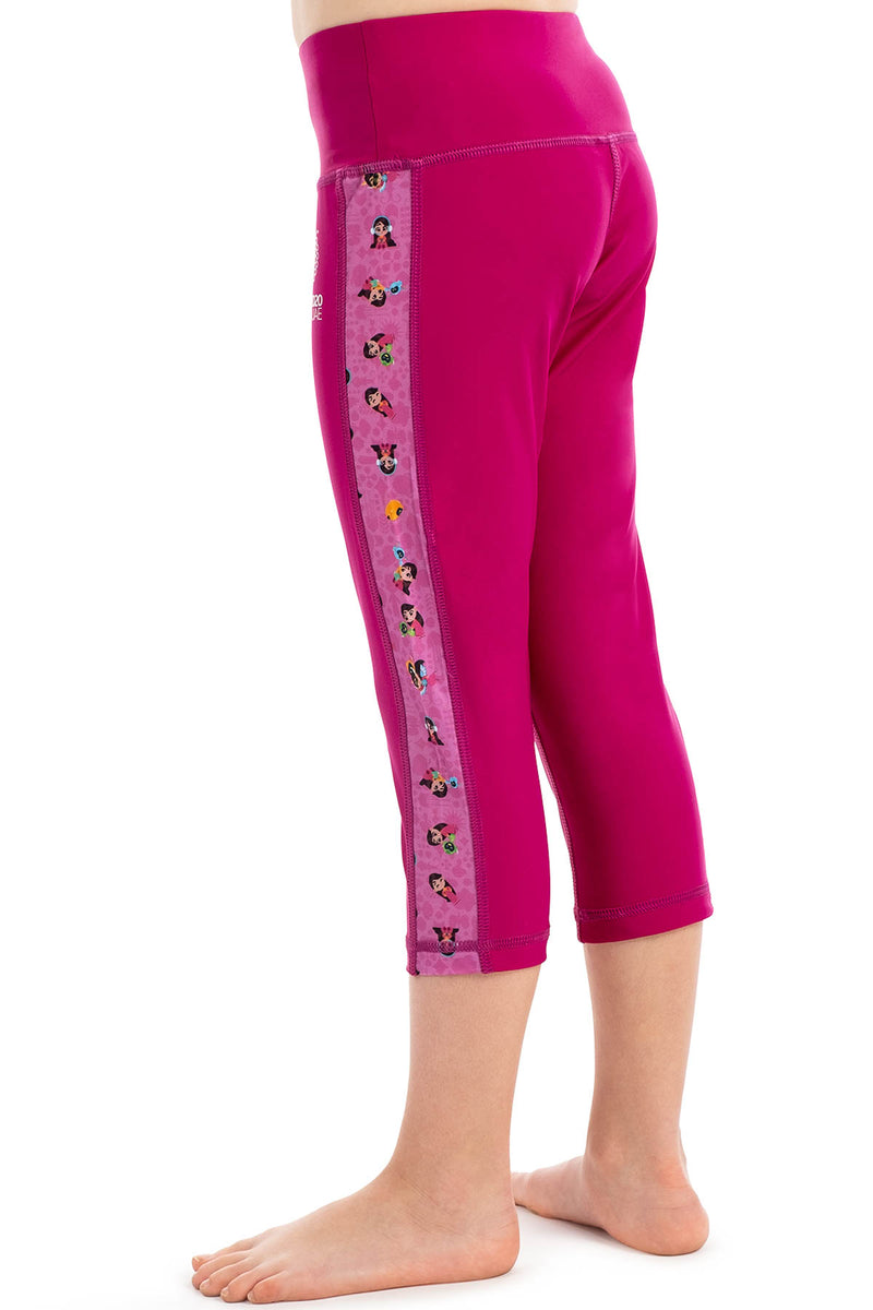 Expo 2020 Dubai Iconic Girls Kids Swim Tights - 3/4 length
