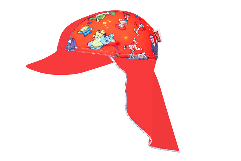 Coega Disney Kids/youth Flap Hat Blue Toy Story Sun Protective Headwear