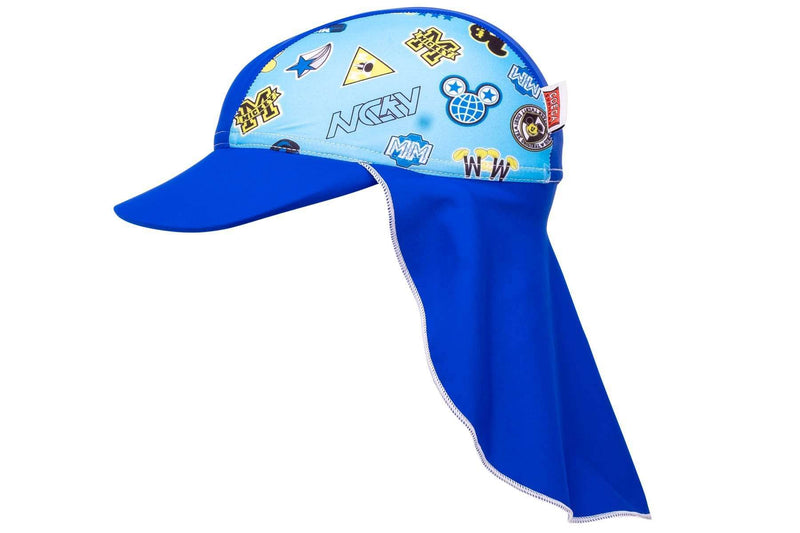 Coega Disney Kids/youth Flap Hat Deep Blue Mickey Sun Protective Headwear