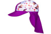 Coega Disney Kids/youth Flap Hat Purple Frozen Sun Protective Headwear