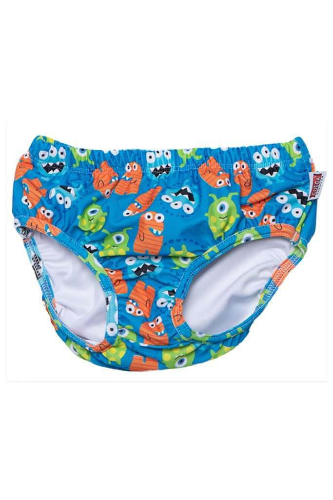 Coega Boys Baby Swim Diaper Blue Monsters / 6M Sun Protective Swimwear