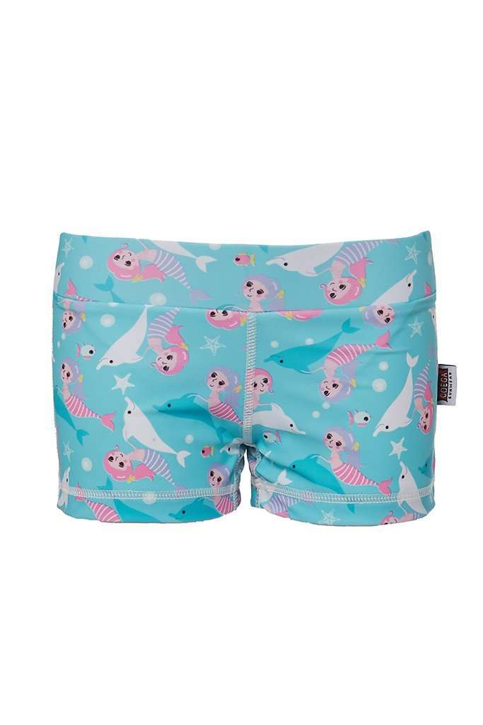 Coega Girls Kids Swim Shorts Pink Mermaids / 4 Sun Protective Swimwear