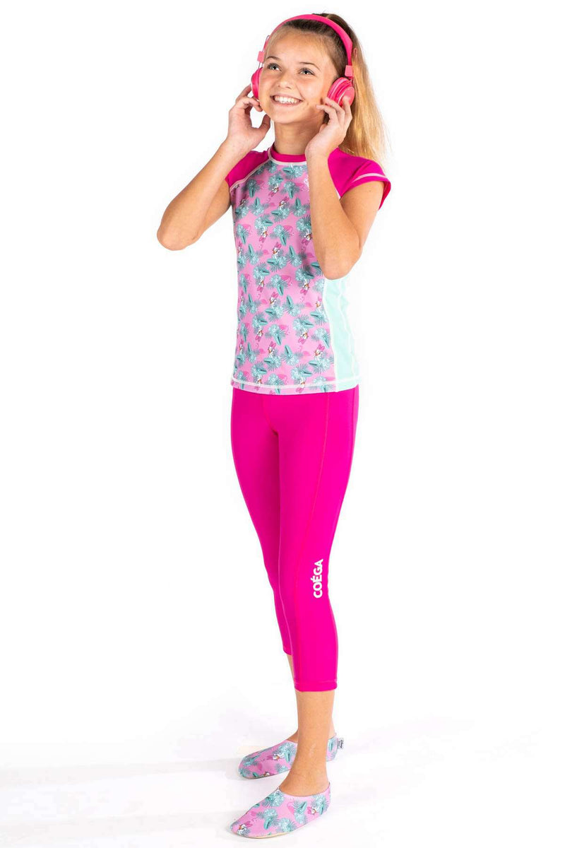 COEGA Disney Girls Youth Rashguard - Capped Sleeve