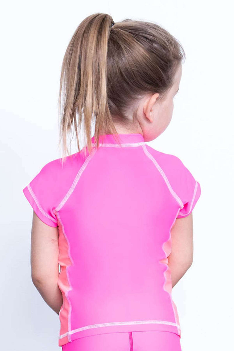 COEGA Girls Kids Rashguard - Capped Sleeve