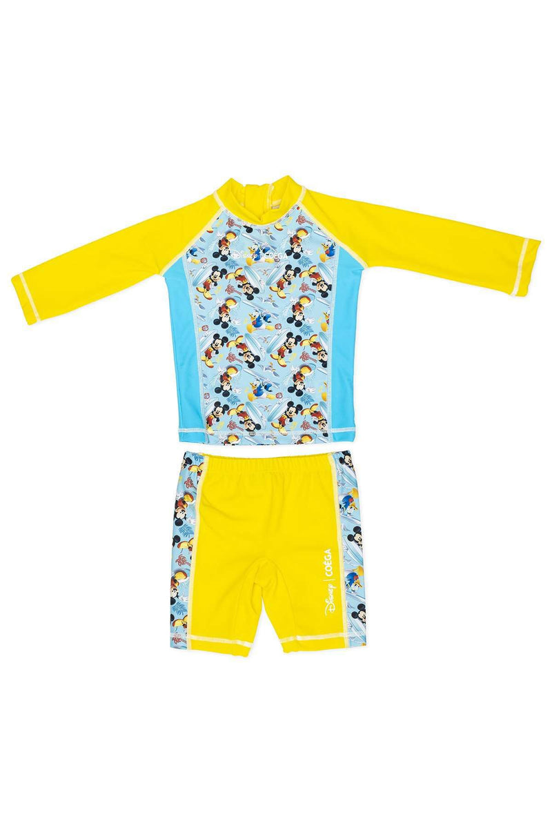 Coega Disney Boys Baby Swim Suit - Two Piece Teal Mickey Surf / 12M Sun Protective Swimwear