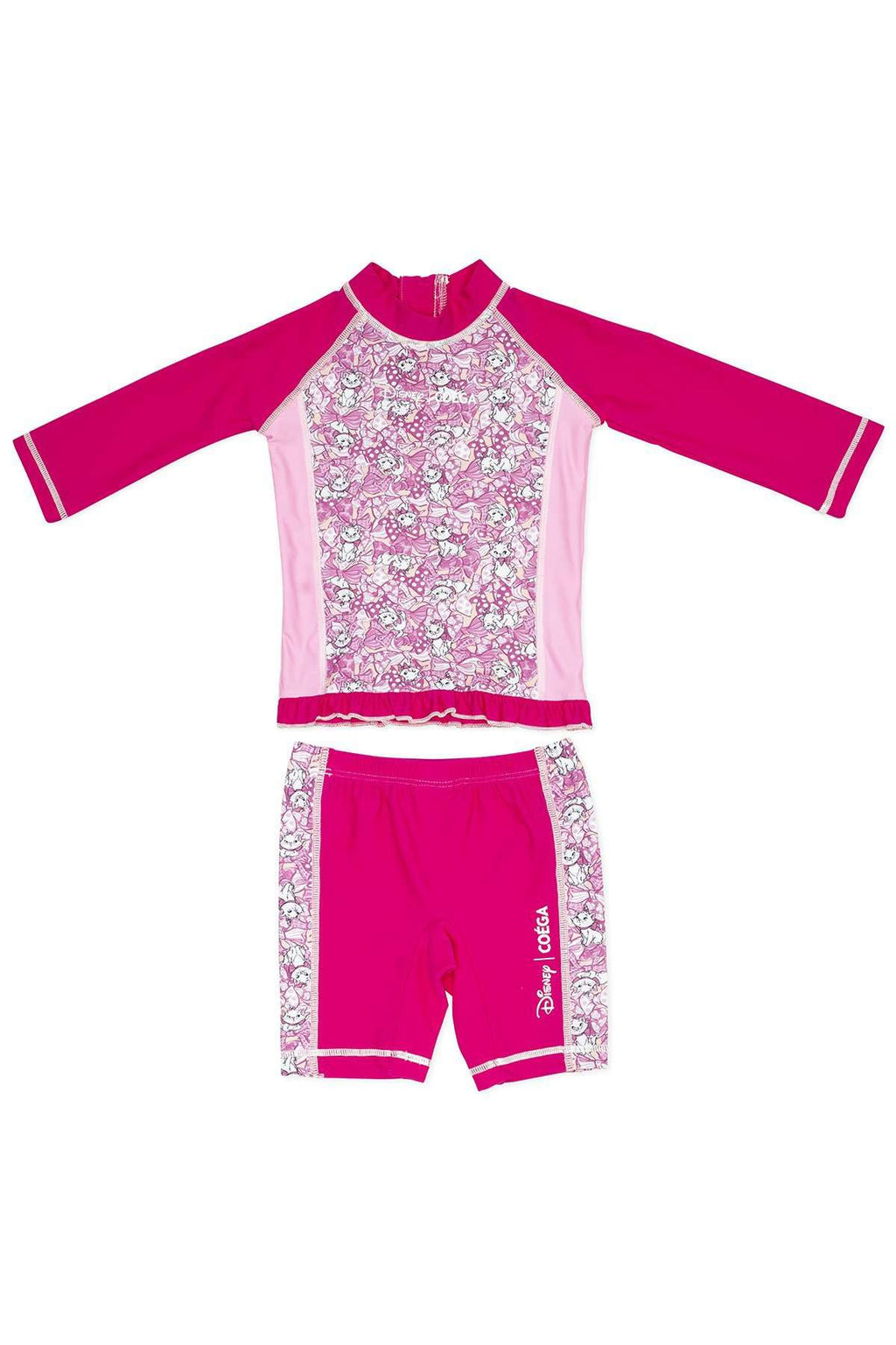 Coega Disney Girls Baby Swim Suit - Two Piece Pink Marie / 12M Sun Protective Swimwear