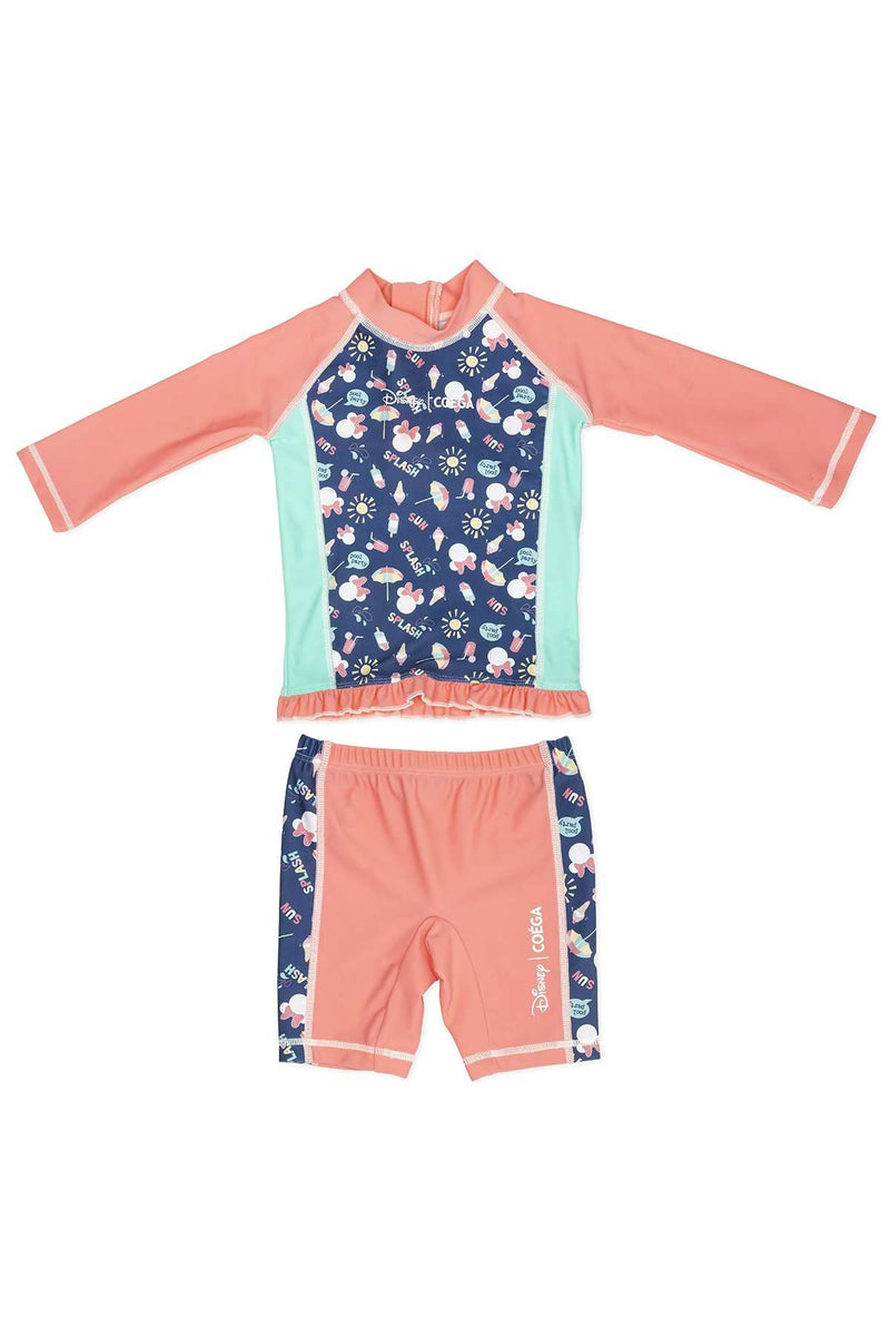 Coega Disney Girls Baby Swim Suit - Two Piece Turquoise Minnie / 12M Sun Protective Swimwear