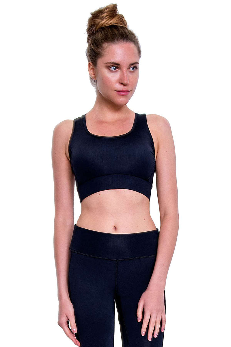 COEGA Ladies Swim Crop Top (Size 6; Black Color)