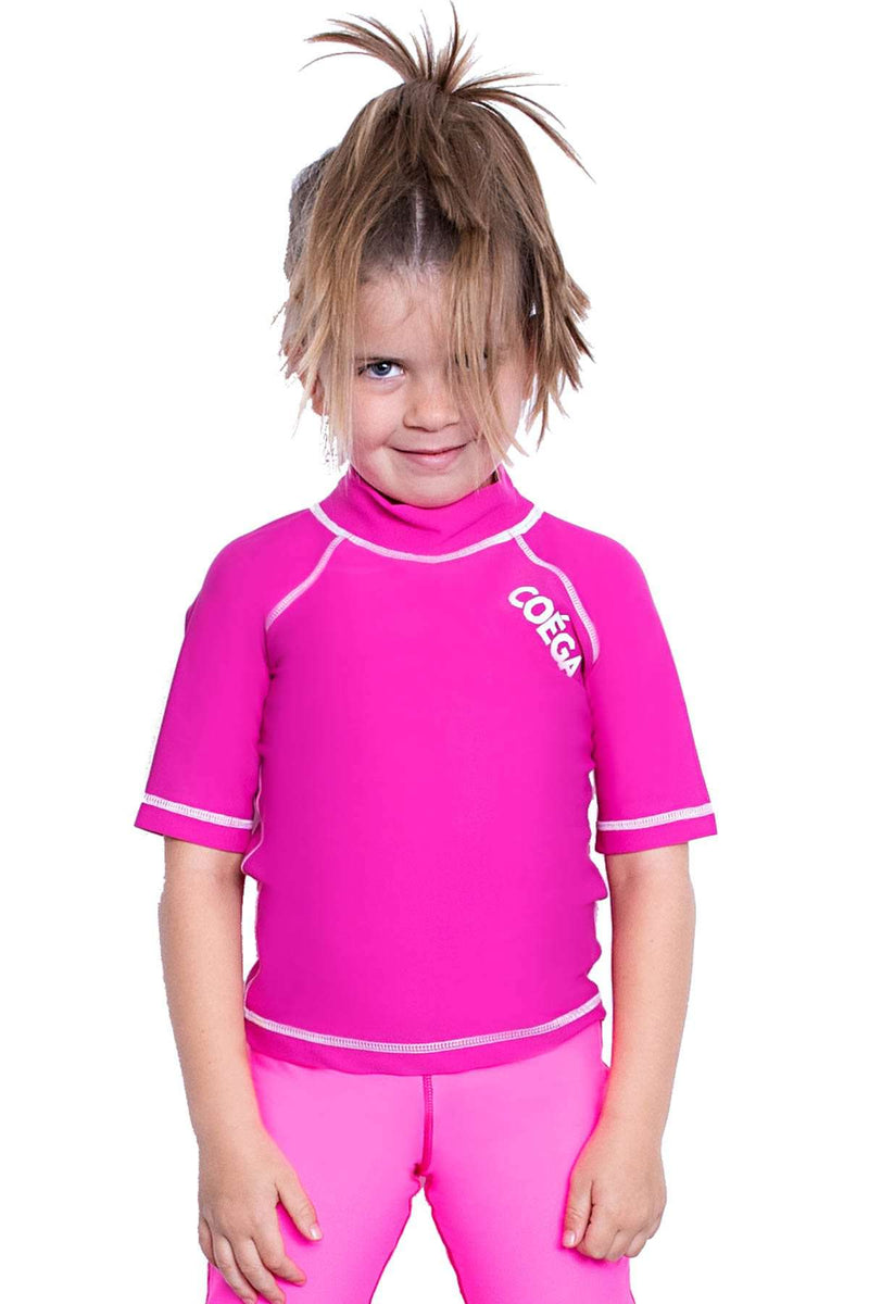 COEGA Girls Kids Rashguard - Short Sleeve