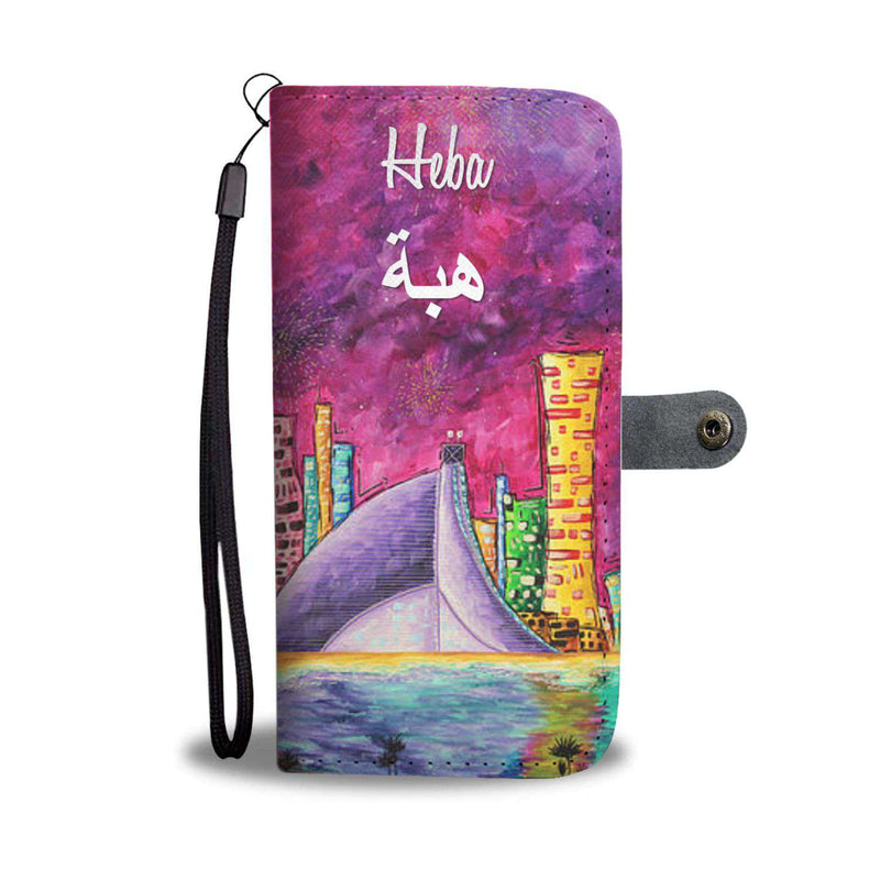 My Dubai Phone Wallet Case 2 - with or without Name (in English & Arabic)