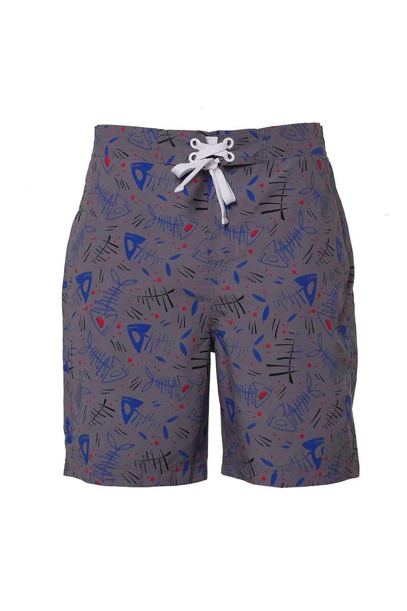 Coega Mens Board Shorts Blue Fish / S Sun Protective Swimwear