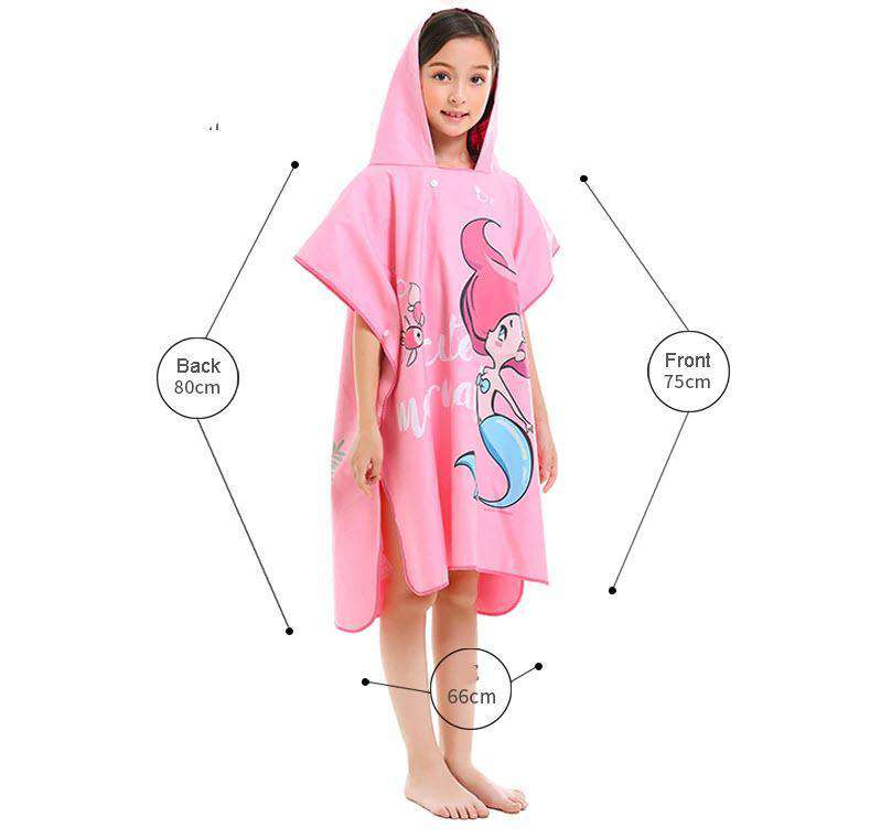 Pool & Beach Changing Robe - Kids Hoodie (one size fits all) ⭐⭐⭐⭐⭐