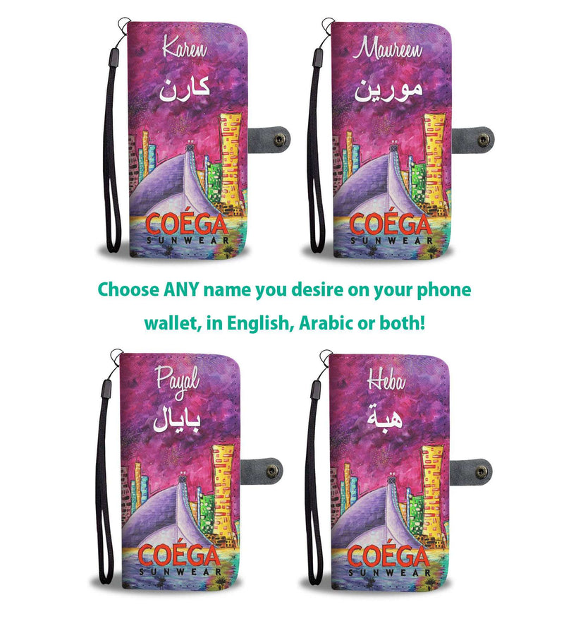 My Dubai Phone Wallet Case - with or without Name (in English & Arabic)