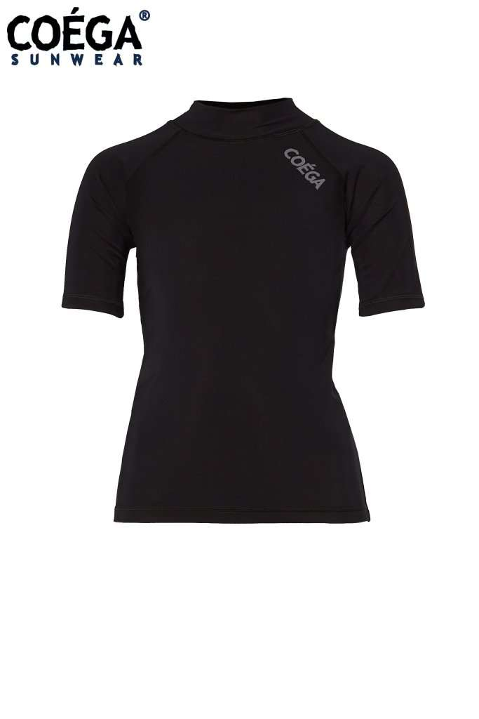 Coega Girls Kids Rashguard - Short Sleeve Black / 4 Sun Protective Swimwear
