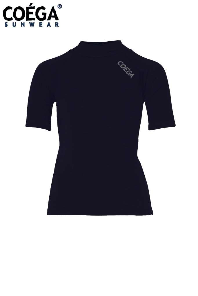Coega Girls Kids Rashguard - Short Sleeve Navy School / 4 Sun Protective Swimwear