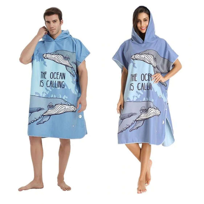 Pool & Beach Changing Robe - Surf Hoodie (one size fits all) ⭐⭐⭐⭐⭐