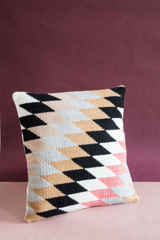handwoven kilim cushion in traditional pattern