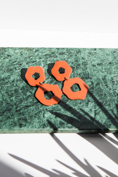 Orb Earrings - terracotta